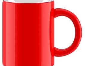 Coffee Mug Red 3D model