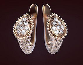 Earrings 4 gem 3D printable model