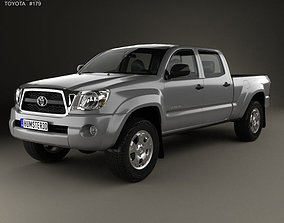 3D model Toyota Tacoma Double Cab Long Bed 2011
