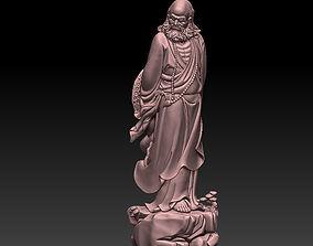 statue 3D printable model bodhidharma