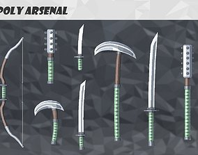 3D model animated Low Poly Arsenal - Steel