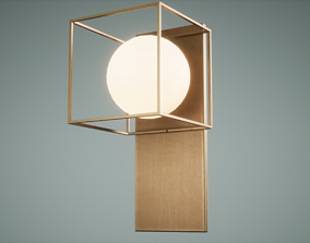 Table Lamp Low Poly Game Ready various-models 3D asset