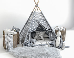 Teepee with decor 3D