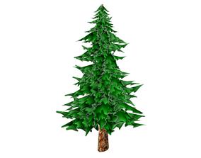3D model Toon Textured Pine Tree