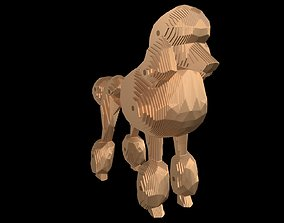 Parametric Poodle 4mm Thickness 3D print model