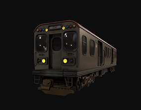 3D asset Chicago Old Train PBR game ready