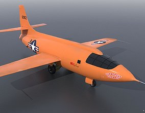 BELL X-1 3D model rigged
