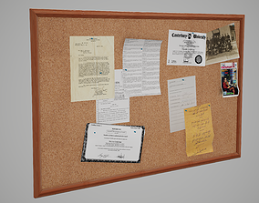 office-supply 3D asset PBR Corkboard