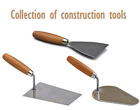 3D model Collection of construction tools