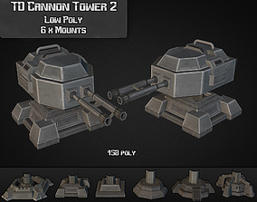 TD Cannon Tower 02 3D model