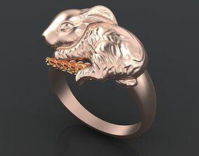 3D print model rabbit ring