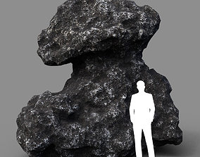 Low poly Lava Rock with dust 04 200229 3D model