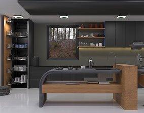 3D printable model kitchen