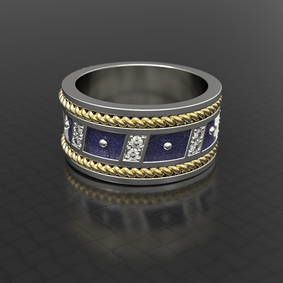 Men silver ring For human