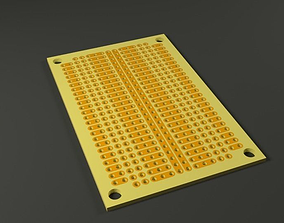 3D model Prototype Circuit Board