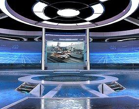 3D model animated Virtual Broadcast Studio