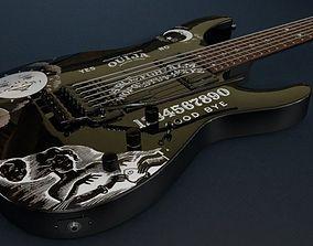 Kirk Hammett - EPS Ouija Guitar Black 3D