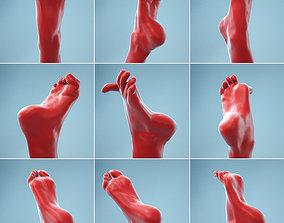 7 Realistic Photoscanned Feet body 3D model