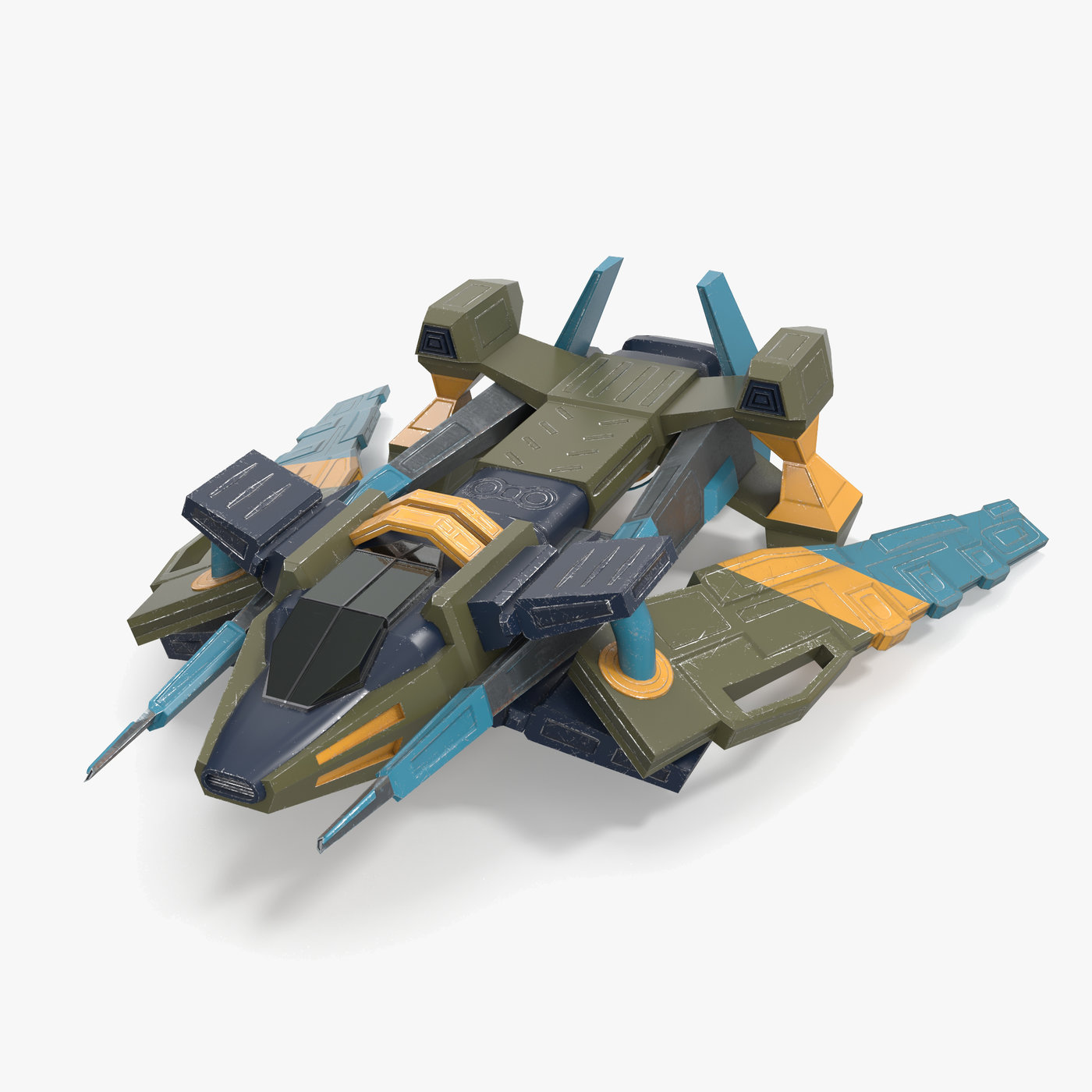 Space Ship-Low Poly