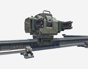 Monorail Turret 3D asset