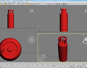 3D printable model extinguisher cylinder