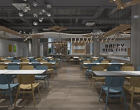 3D Furnished Canteen 05