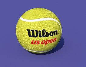ball-shaped tennis ball 3D asset VR / AR ready