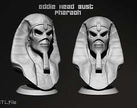 3D printable model Eddie The Head Pharaoh version