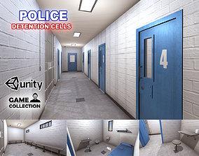 Police Detention Cells 3D model