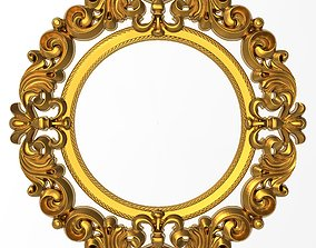 rococo Carved Picture Frame 3D