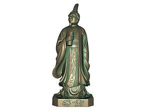 Confucius students Zigong 3D asset