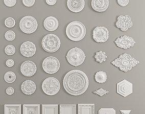 Ceiling Sockets Decorative Gaudi Elements 3D model