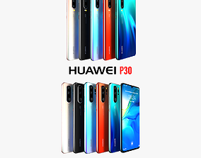 Huawei P30 and Huawei P30 Pro All colors 3D model