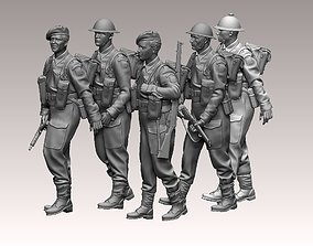 3D printable model British soldiers ww2