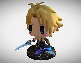 Chibi Tidus Figure Printable from World of Final