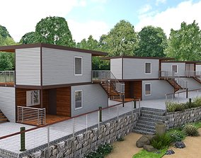 Recreation Center Houses 3D