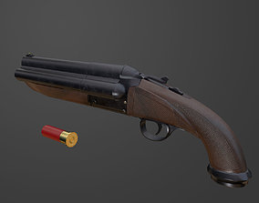 3D model Triple Barrel Shotgun PBR