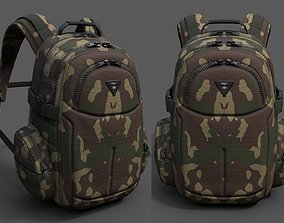 Backpack human military combat soldier armor 3D model