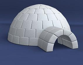 Igloo winter 3D model