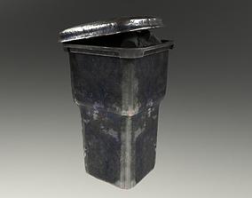 3D asset VR / AR ready PBR Trashcan