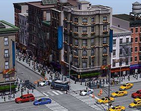 shop 3D model NYC Street Crime Scene