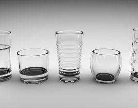 Glass Set 3D asset