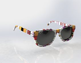 Rayban Wayfarer sunglasses 3D