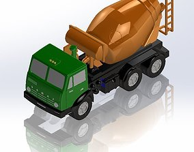 KamAZ concrete mixer 3D print model