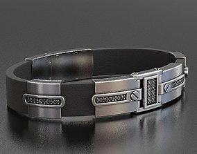 Stylish bracelet under the skin with 3D print model 1