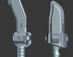 3D printable model Spartan Kukri and Combat Knife