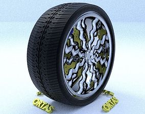 ORTAS CAR RIM 11 GAME READY RIM TIRE AND DISC 3D