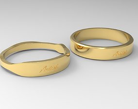 Artist Couple Ring Gold 3D print model
