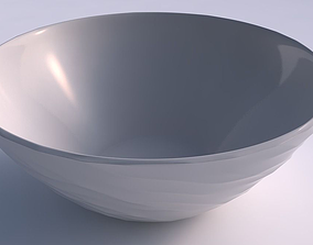 3D print model Bowl wide with fibers smooth inside