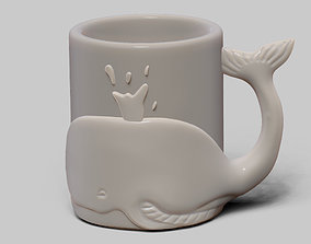 Whale cup 3D printable model